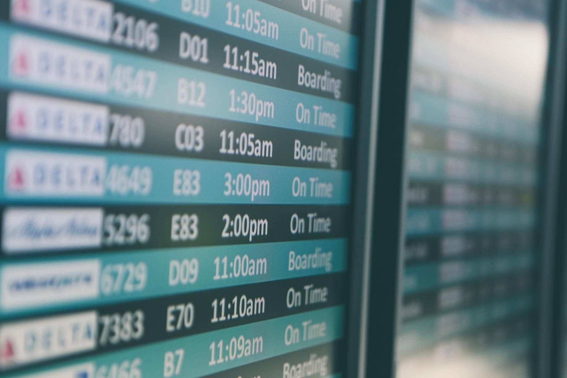 Departure timeframe